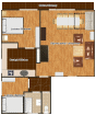 Apartment no. 1 - plan